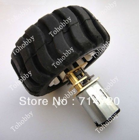 Free Shipping 6V N20 Metal DC Geared Motor wheel kit with wheel and N20 Motor Frame