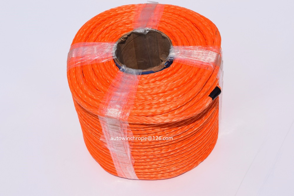 High Quality 10mm 100m Synthetic Winch Rope ATV Winch Cable Plasma Rope Towing Rope Boat Winch