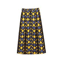 European Fashion Skirts 2019 Summer Hot Sale Women Mid-Calf Patchwork Casual New