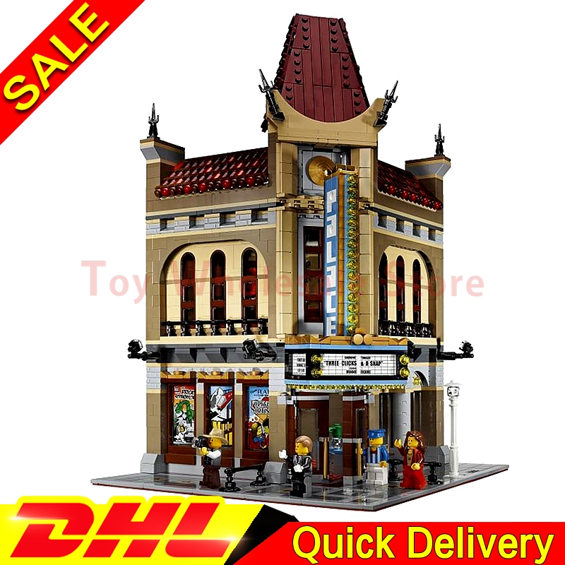 LEPIN 15006 Modular Moc Street Houses Palace Cinema Building Block Set Bricks Kits Set lepins Toys Clone 10232 lepin 16002 modular pirate ship metal beard s sea cow building block set bricks kits set toys compatible 70810