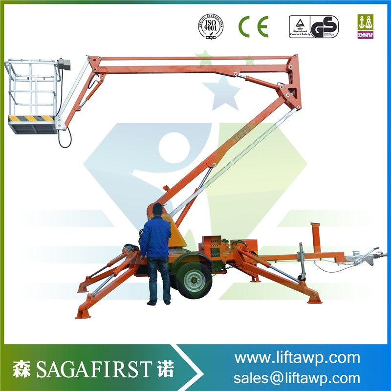 Electric Retractor Electric Hydraulic Movable Towable Boom Lift