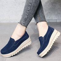 35 42 Platform Women Casual Shoes Moccasins Soft Comfortable Ladies Summer Autumn Female Footwear Women Vulcanize Shoes DC178