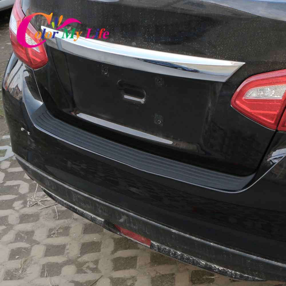 Image 4 - Car Rear Bumper Trunk Protection Sticker Car Styling for Chevrolet Cruze 2009 2017 Malibu Trax for Ford Focus 2 3 4 MK2 MK3 MK4-in Car Stickers from Automobiles & Motorcycles