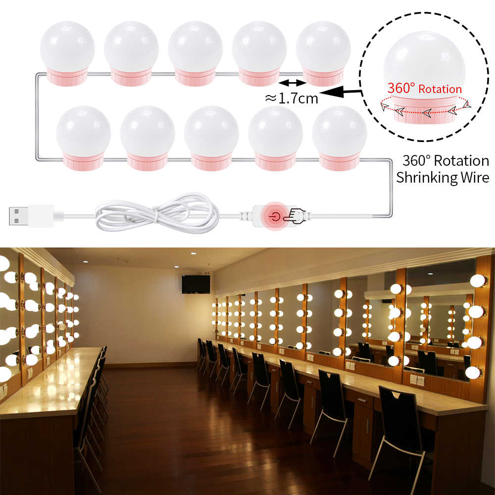 Hollywood Vanity Makeup Mirror Light Bulb Usb 5v Make Up