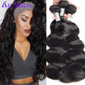 Best Brazilian Virgin Hair Body Wave 4 bundles Brazilian Body Wave Color1B Ali Moda Brazilian Human Hair Weave Bundles Body Wave