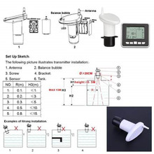 مقياس مستوى السائل اللاسلكي ، 0.5 م-15 م ، خزان بالموجات فوق الصوتية ، مع مستشعر درجة الحرارة ، مقياس مستوى الماء بالموجات فوق الصوتية