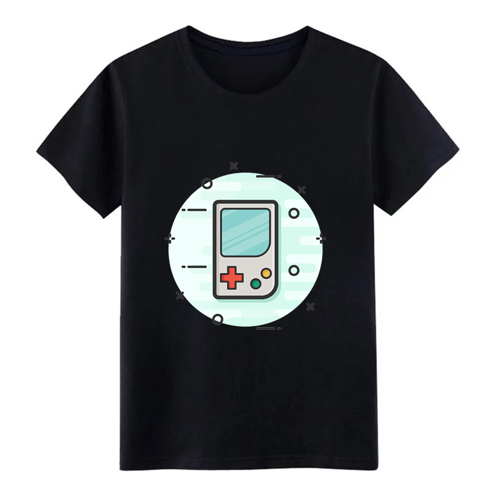 Men's game boy gaming gamer handheld console t shirt printed 100% cotton plus size 3xl Novelty Famous Building summer shirt