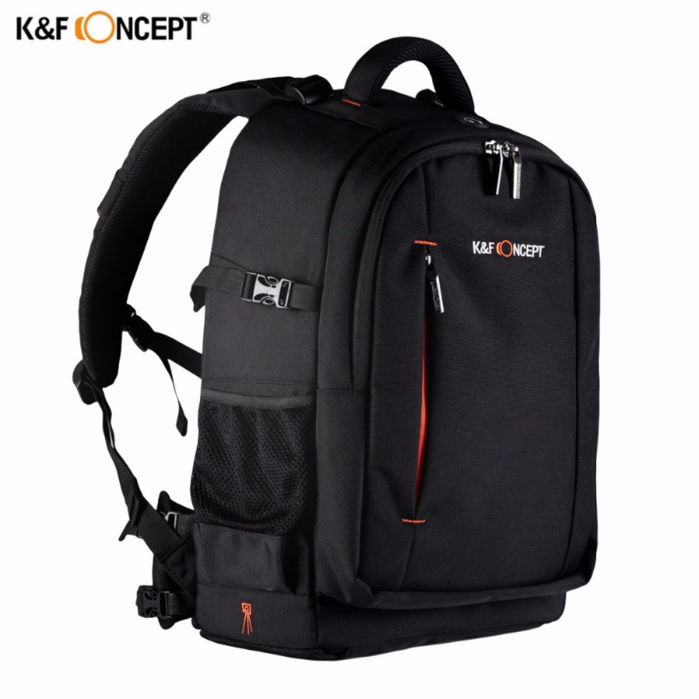 K&F CONCEPT Large Capacity Waterproof Camera Backpack Photo/Video/Laptop Bag Lens Case DSLR Bags Travel Knapsack For Canon Nikon