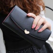 2015 mode portefeuilles longues dames de conception embrayages porte – monnaie titulaire de la carte PU en cuir femmes portefeuille 10 couleurs mignon diamant 3 plis