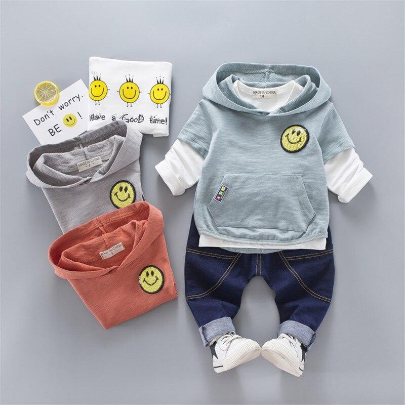 Children 3Pcs Clothes Set Girl Boy Hooded Vest Sequins Clothes Sets Three Piece Clothes Set Kids Clothing for 12M-3T Baby 2pcs set baby clothes set boy