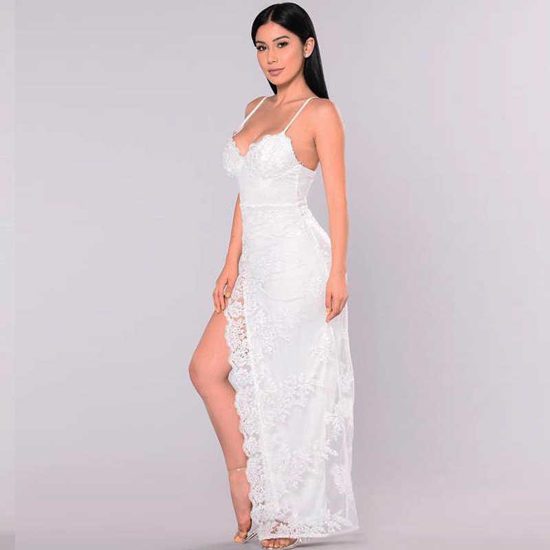 NewAsia Vrouwen Zomer Jurk 2018 Luxe Plus Size Lange Maxi Jurk Elegante Witte Kanten Jurk Sexy Party Jurken Rood Club vestido