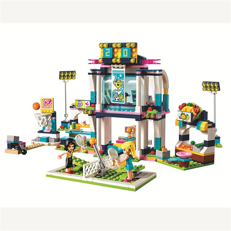 10857 467pcs Girl Friends Stephanie's Stadium Gym Bela Building Block Compatible legoing 41338 Bricks Toy