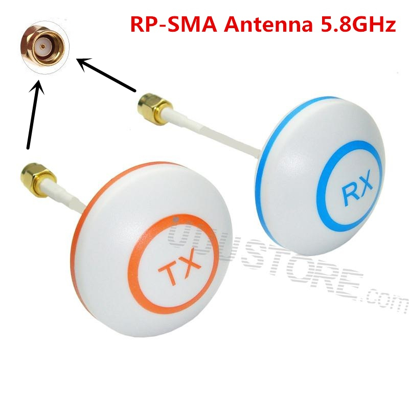 Antenne omnidirectionnelle de champignon de feuille de trèfle d'antenne de FPV 5.8 GHz réglée avec la prise RP-SMA pour le système de FPV