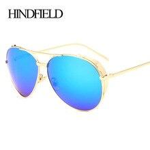 HINDFIELD Moda Punk gafas de Sol Mujeres Steampunk Ronda Diseñador de la Marca de Los Vidrios de La Vendimia gafas de Sol Mujer gafas de sol mujer