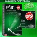 Nueva llegada Nuevo embalaje placer más condón ultrafino condones de látex súper delgada 10 unids/caja 3 boxs/Lot 0.049mm de Espesor