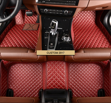Lady Red Purple Cute Leather Leather Auto font b Interior b font Decoration Floor Mats Foot