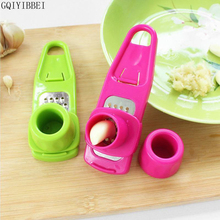 GQIYIBBEI Multifunctional Ginger Garlic Press Grinding Grater Planer Slicer Mini Cutter Kitchen Cooking Tool Utensils