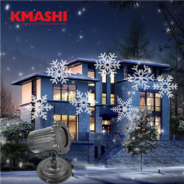 kmashi christmas decoration lights waterproof outdoor decoration snowflake led projector lamp plug in fairy lights