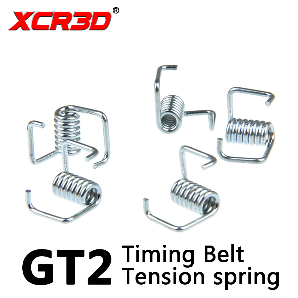 XCR3D 10pcs/lot 3D Printer GT2 synchronous belt Torsion Spring 6mm 2gt synchronous belt Tensioner Spring wholesale 3d printer synchronous gt2 belt for reprap ultimaker other printer 1m length free shipping