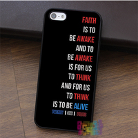 Twenty One Pilots Car Radio Lyrics Fashion Cell Phone Case For Iphone 4 4s 5 5s