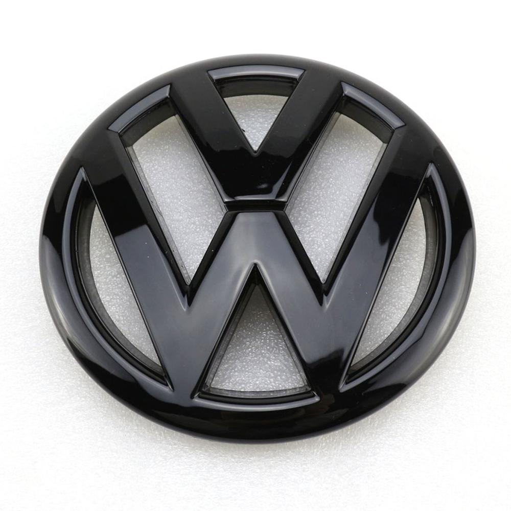145mm gloss preto frente grill logotipo do carro emblema substituicao emblema para vw volkswagen tiguan 2009