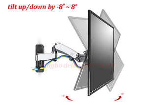 """Image 3 - NB F500 air press Gas spring dual Long arm50 60"""" 14 23kg full motion Monitor wall bracket LCD PLASMA tv mount lcd holder support"""