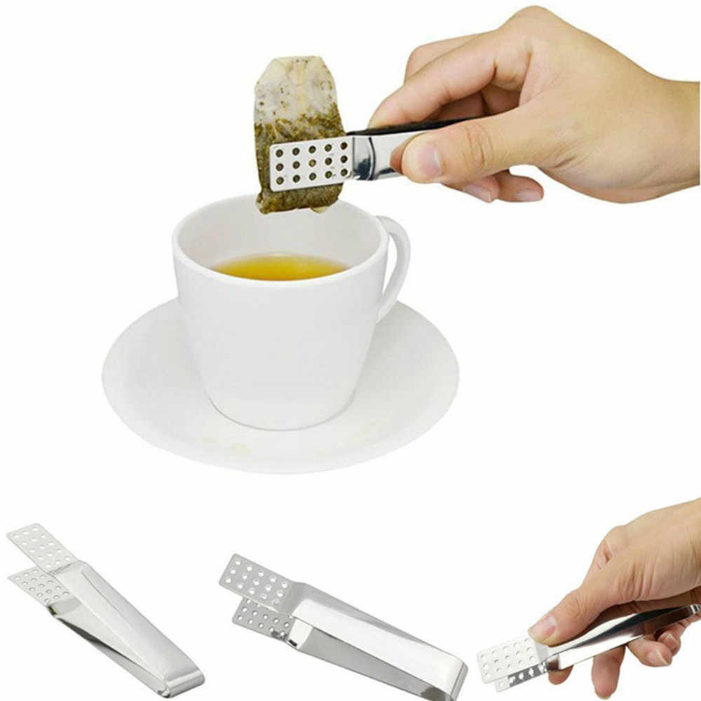 Stainless steel tea bag clip Resistant Teabag Quality Food Set Clip Stainless Steel Tea Bag Tong Squeezer
