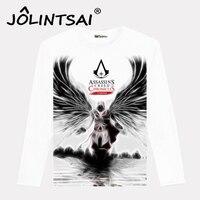 Assassins Creed Men's Funny T-shirt XXXL Male Long Sleeve Men Costume 2017 Fashion White Pokemon T shirts Men Hip Hop Top Tees