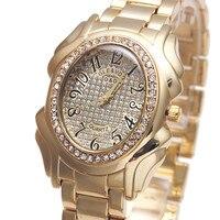 2017 Luxury Brand G D Watch Women Quartz Wristwatch Gold Stainless Steel Relojes Mujer Fashion Dress