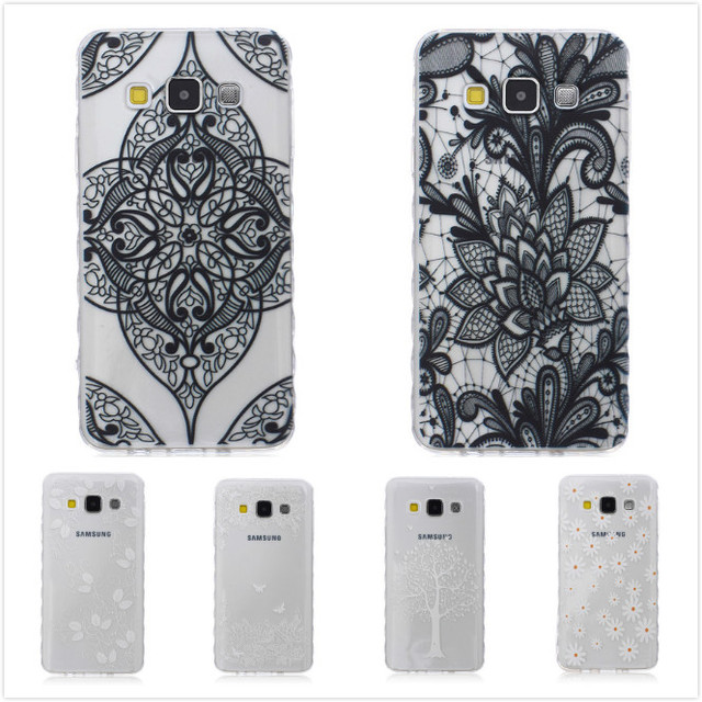 Printing Cartoon Cute Owl Bear Flower Soft TPU Silicone Clear Phone Case Cover for Samsung Galaxy A3 A3000 SM-A300F SM-A300H