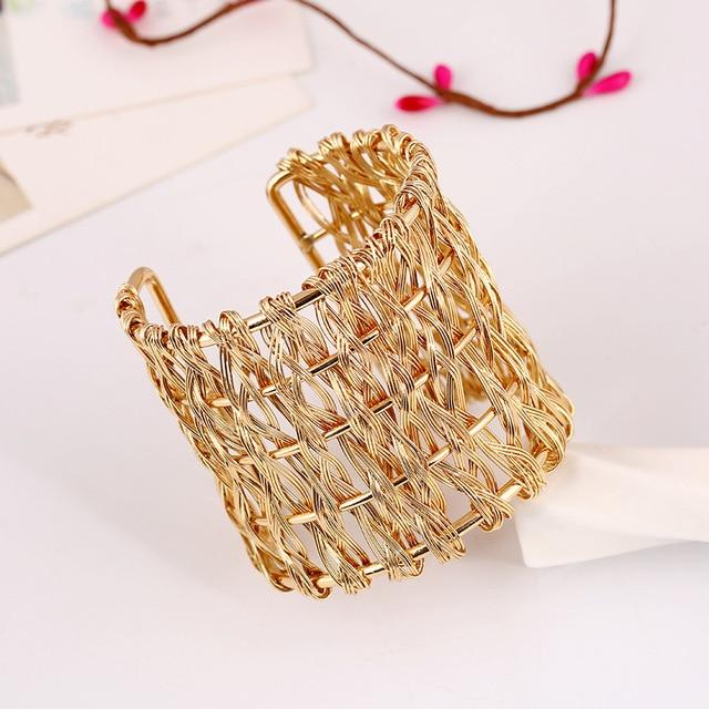 Купить женский металлический плетеный браслет lzhlq открытый регулируемый