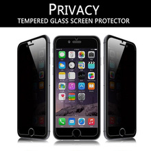 50pcs 2 5D anti spy privacy tempered glass for apple iphone 6 plus screen protector guard