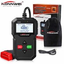 Nowy KONNWEI KW590 OBD2 czytnik kodów skaner motoryzacyjny Auto naprawa narzędzie diagnostyczne OBD II OBD 2 skaner lepiej ELM327 w rosyjski