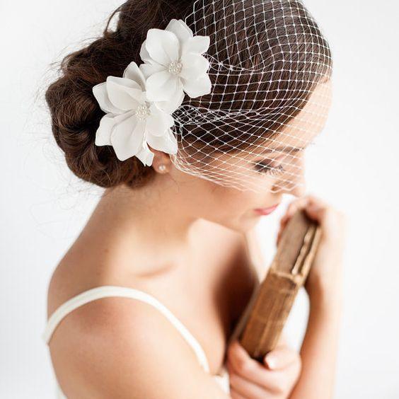 Wedding Veil 2017 Flowers Bridal Veil Cage Veu De Noiva Accessoire Cheveux Mariage Wedding Hair Accessories