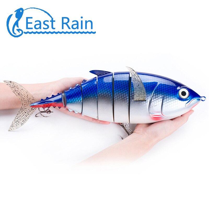 East Rain 40CM 1027G leurres de pêche océanique 6 segments appâts durs de qualité professionnelle 2 hameçons de pêche appâts artificiels livraison gratuite