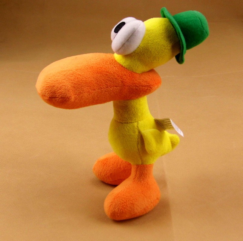 22cm Cute Pato Duck Pocoyo Plush Soft Stuffed Doll Toys For Kids Brithday Gifts