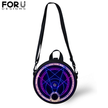 FORUDESIGNS Novel Cool Magic Array Small Messenger Crossbody Bags for Women Kids Round Shoulder Bag Girl Boys Casual Satchel