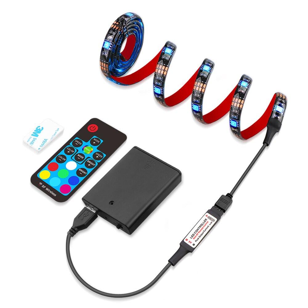 LED Strip Light 5050 RGB Battery Powered TV Background Lighting Waterproof Non Waterproof Cuttable 5050 Backlight Strip