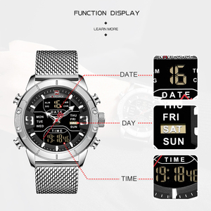 Image 2 - Luxury Brand NAVIFORCE Men Watch Analog Digital Watches Mens Stainless Steel Sport Waterproof Wristwatch Relogio Masculino 2020
