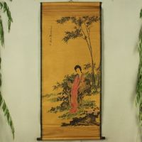 Exquisite Chinese Antique collection Imitation ancient Bamboo female Picture