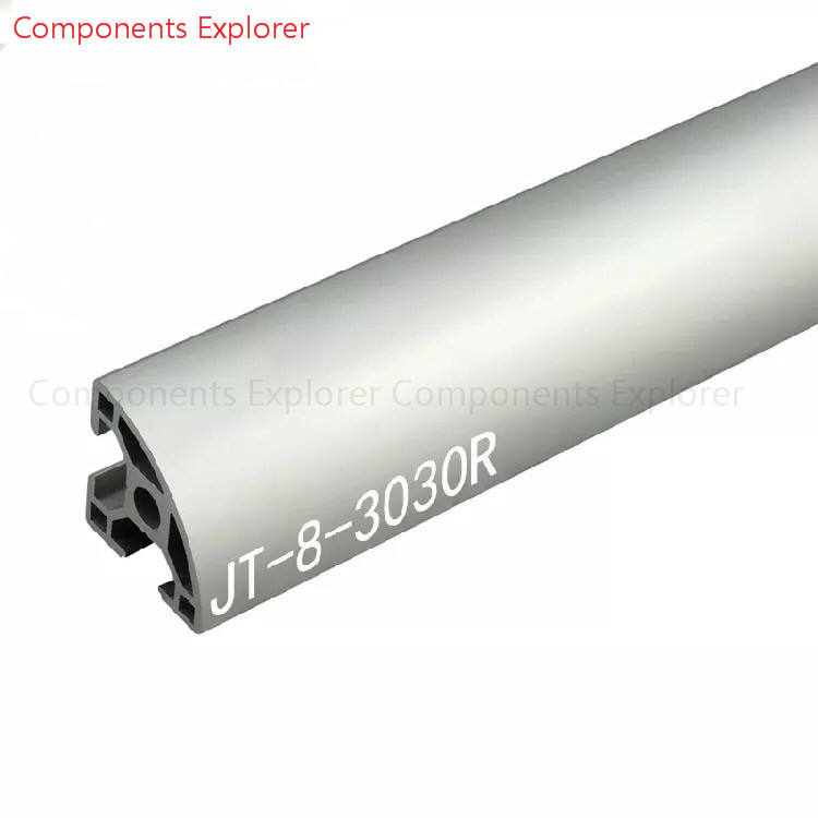 Arbitrary Cutting 1000mm 3030 Arc Aluminum Extrusion Profile,Silvery Color.
