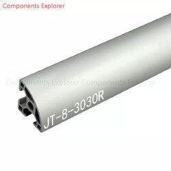 Beliebige Schneiden 1000mm 3030 Arc Aluminium Extrusion Profil, Silbrig Farbe.