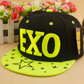 Free shipping Parent-child embroidery exo five-pointed star baby boy baseball cap hiphop child hats snapback kid girl summer cap