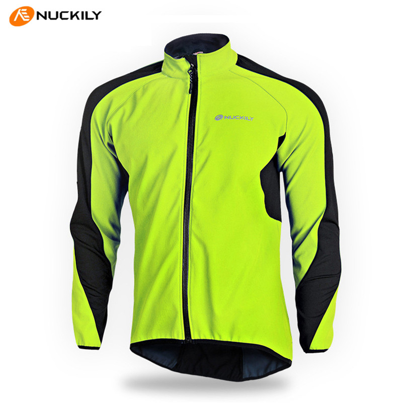 цена на NUCKILY Windproof Thermal Fleece Cycling Jersey Long Sleeve Sportswear Clothing Ciclismo Winter Warm Bicycle Bike Jersey Coat