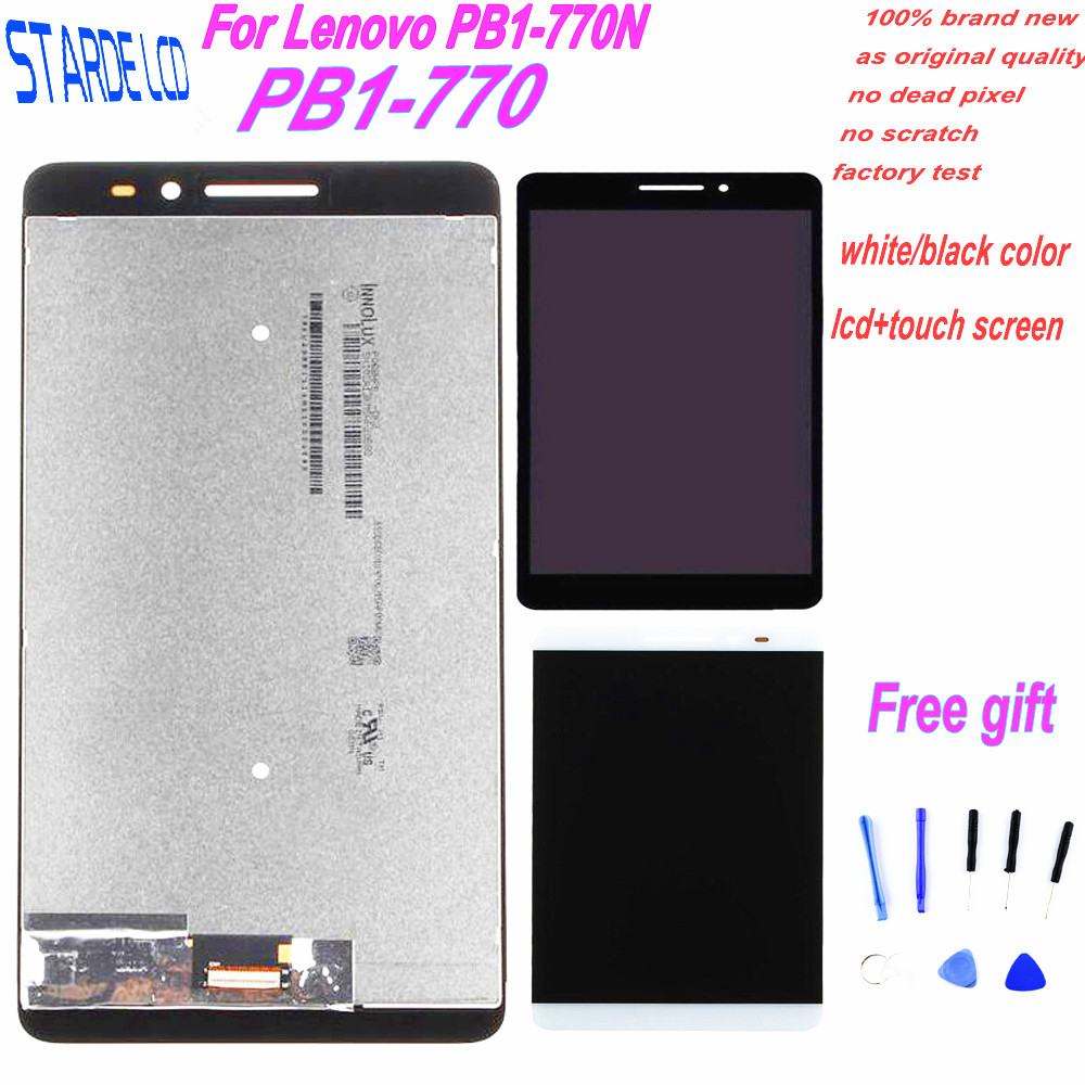 Starde For Lenovo Phab Plus PB1-770N PB1-770M PB1-770 LCD Display Touch Panel Screen Digitizer Assembly with Free Tools