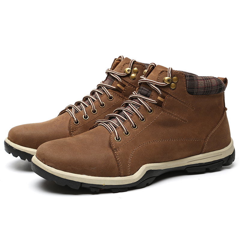 LINGGE/Брендовые мужские ботинки высокого качества Дизайнерские ботильоны на шнуровке Мужская Рабочая Мужская обувь из натуральной кожи#692-5