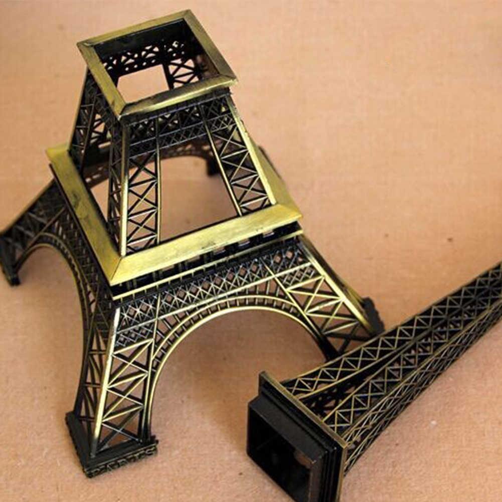 5-13cm bronze paris torre de metal artesanato estatueta estátua modelo casa decoração lembrança modelo crianças brinquedos para crianças ornamentos chaveiro
