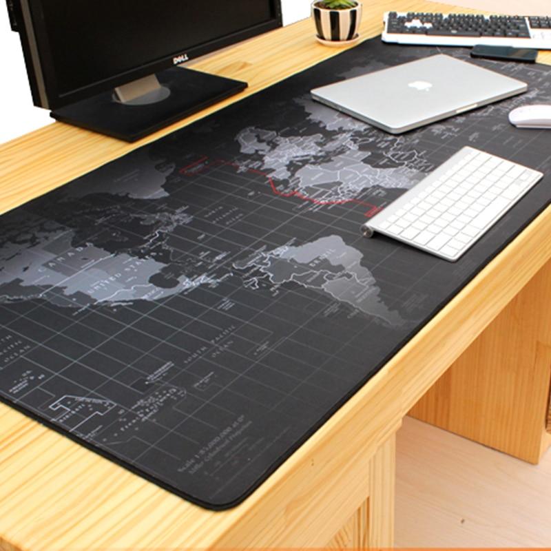 1000 * 500 მმ ძველი მსოფლიო რუქა საწინააღმდეგო ზოლიანი დიდი სათამაშო მაუსის ბოჭკოვანი საკეტი Edge Desk Mousepad Mat for LOL სიურპრიზები cs go Dota 2 Gamer