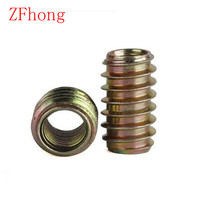 M4 M5 M6 M8 M10 Furniture Unhead Nut Threaded Color Zinc Plated Carbon Steel For