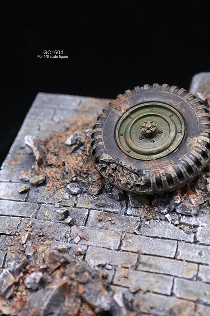 1/6 фигурка солдата аксессуары для сцены GC1604 мировая война II европейские уличные руины Модель сцена платформа, игрушка для 12 ''фигурка - 4